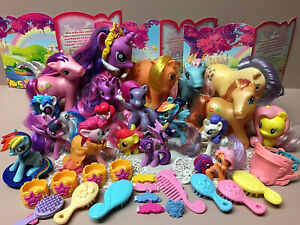 Large Lot Of MY LITTLE PONIES 1982-2018-21 Ponies W/Accessories-Super Nice!