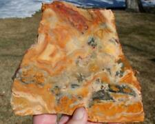 YELLOW CRAZY LACE AGATE SLAB 340 grams rough/jasper/cab/gem/mineral/rock