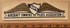 AOPA Aircraft Owners and Pilots Association Decal Original Authentic Vintage