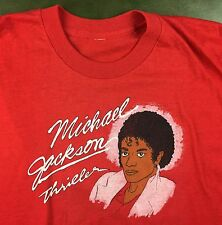 Vintage Mens L/XL 80s Michael Jackson Thriller Original Bootleg Graphic T-Shirt