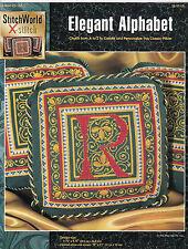 Elegant Alphabets Pillow Pattern Cross Stitch Needlepoint ABC StitchWorld