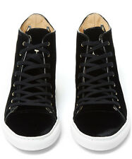 $2800 Charlotte Olympia BLACK HIGH TOP Sneakers Trainers ANKLE BOOTS SHOES 6.5