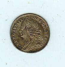 1757 English Silver 6 Pence