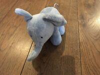 Little White Company Blue Elephant Soft Toy Floppy Ears Plush Elly Hug Comforter