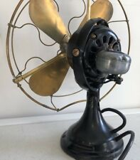 "RARE Antique General Electric GE 1911 KIDNEY Oscillating Fan 16"" brass blades"