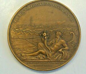 LOUIS XIIII 1681  bronze poids 174 grammes  spectaculaire médaille