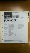 Pioneer FA C7 service manual original repair book Stereo Tuner Amplifier