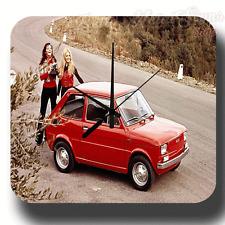FIAT 126P  POLISH CAR METAL TIN SIGN WALL CLOCK