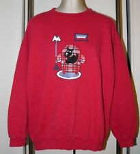 NORTHERN REFLECTIONS Sweatshirt XL 1X Scottie Dog on Plaid Chair Red Vtg '90's