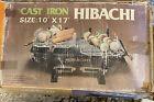 Vintage 70s Original Box Cast Iron Tabletop Cocktail HIBACHI Grill 10x17 NOS