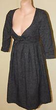 Womens Charcoal Wool Blend Dress BNWT - Penelope & Monica Cruz - Size S
