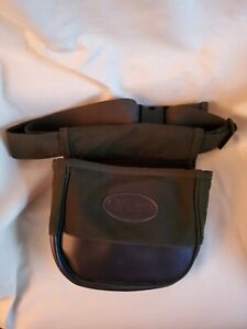 Allen Shotgun shell Bag, double comp, Canvas, clay or trap shooting bag green