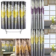 Luxury Modern Bathroom Fabric Shower Curtains Extra Long with Hooks 180 x 180cm