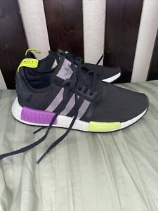 Size 7.0 - adidas NMD R1 Black Neon Green Purple