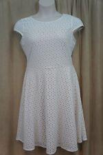 Jessica Howard Dress Sz 8 Ivory Beige Cap Sleeve Day Lace Business Dinner Dress