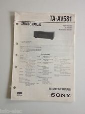 Schema SONY - Service Manual Integrated Av Amplifier TA-AV581 TAAV581