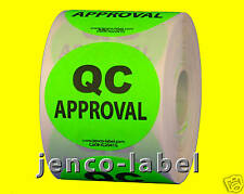 """IC2041G, 500 2"""" dia QC Approval Label/Sticker"""