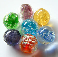 """30pcs 10mm Round """"Glow-in-the-Dark"""" Glass Beads - Mixed Colours"""