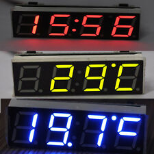3in1 Car Auto Digital LED Time Voltmeter Thermometer Electronic Clock Module