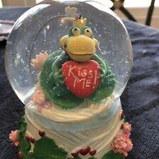 San Francisco Music Box Company Kiss Me Frog Prince Snow Globe
