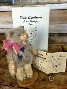 DEB CANHAM MOHAIR CHESHIRE CAT ALICE Wonderland LTD EDITION w/tag & BOX VINTAGE