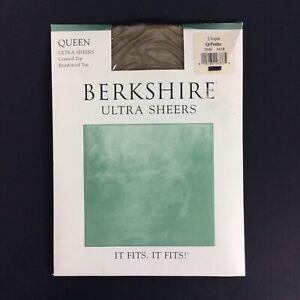 Berkshire Ultra Sheers Pantyhose Queen Petite Brown Control Top Reinforced Toe