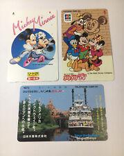 Tokyo Disneyland Vintage Phone Cards Used Lot Of 3 - (7225)