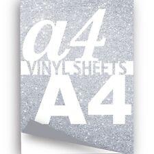 A4 Silver Glitter Sparkle Vinyl 297x210mm Metallic Flake Sticky Back Crafts