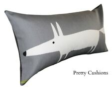 Scion Mr Fox Charcoal Grey & Lime Bolster Cushion Cover