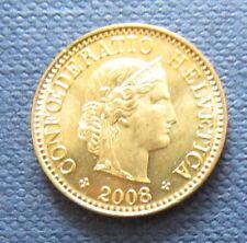 Schweizer Franken 2008 5 Rappen für Sammler aus Umlauf