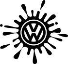 VW Volkswagen car vinyl decal sticker splat splash dub golf bora polo passat uk