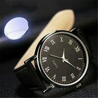 Mens Business Style Watch Luxury Modern Leather Quartz Analog Wrist Watch Gift