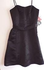 Watters & Watters Black Formal Dress Spaghetti Straps Knee Length Sz 10 NWT
