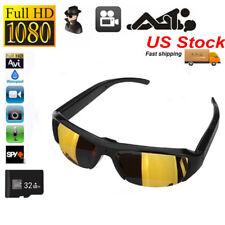 HD 1080P Glasses Camera Sunglasses Eyewear DVR Digital Video Audio Recorder 32GB