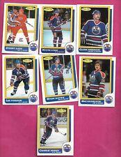 1986-87 OPC EDMONTON OILERS  CARD LOT (INV# C2029)