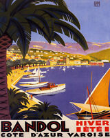 POSTER LE CAP MARTIN COTE D/'AZUR FRENCH RIVIERA TRAVEL VINTAGE REPRO FREE S//H