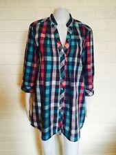 Esprit Check Long Sleeve Regular Tops & Blouses for Women
