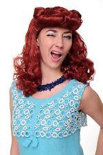 Perücke Faschingsperücke Damen Scarlett Rockabilly 50er rot Tolle WIG018-P135