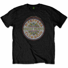 El logo de los Beatles Sgt Peppers Lonely Hearts Club Band Drum Negro Para hombres Camiseta