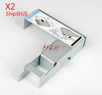 """US 2PCS 2.5"""" to 3.5"""" Tray Caddy Bracket Adapter 9W8C4 for Dell F238F D981C X968D"""