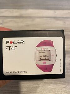 Polar FT4F Fitness Training Heart Rate Monitor Watch Purple/Pink PUR/PNK