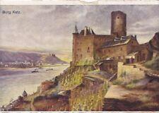 Burg Katz,  Ansichtskarte