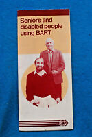 Seniors and Disabled People Using BART - Brochure - Winter 1985