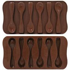 6 Chocolate Cucharas Bakeware del silicón Molde