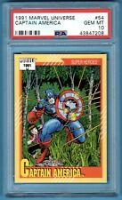 1991 Marvel Universe Captain America PSA 10 Impel LOW POP