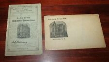 Erie County Savings bank- bank Book 1890's Buffalo New York with envelope