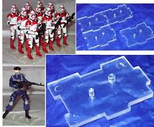 Marauder I.D.S Figure Stands CLEAR - Set of 20 (twenty)