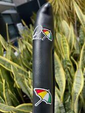 Arnold Palmer Signature Golf Alignment Aid Sticks Cover Black Leather Brand New