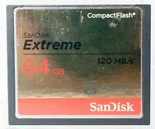 SanDisk 64GB 120 MB/sec compact flash card, including case.