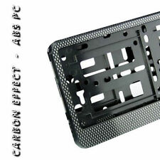 1 x CARBON EFFECT NUMBER PLATE HOLDER SURROUND FOR ANY CAR BRAND & MODEL ABS PC